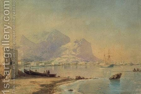 In harbour by Ivan Konstantinovich Aivazovsky - Reproduction Oil Painting
