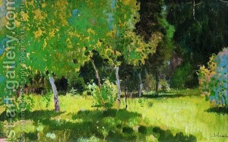 A garden by Isaak Ilyich Levitan - Reproduction Oil Painting