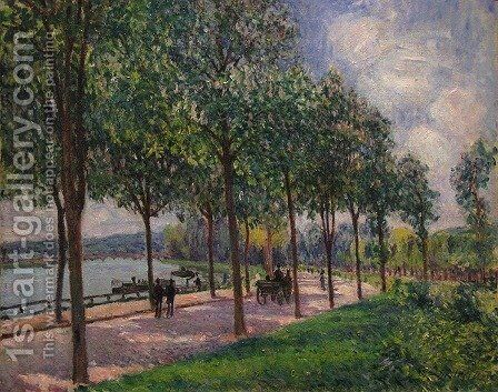 Alley of Chestnut Trees by Alfred Sisley - Reproduction Oil Painting