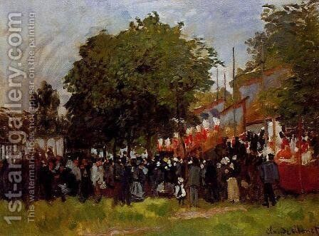 Festival at Argenteuil by Claude Oscar Monet - Reproduction Oil Painting