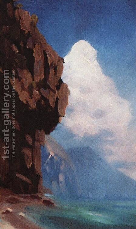 Rock by Arkhip Ivanovich Kuindzhi - Reproduction Oil Painting