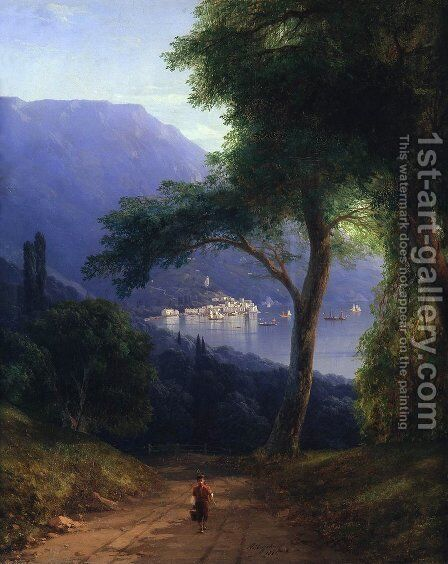 View from Livadia by Ivan Konstantinovich Aivazovsky - Reproduction Oil Painting