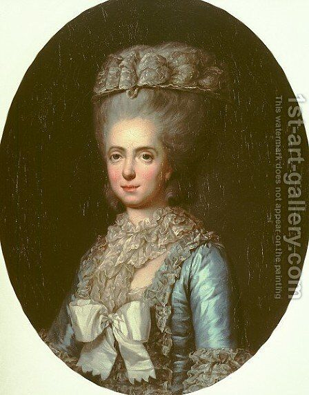 Portrait of Princess Marie Adelaide of France, called Madame Adelaide by Anne Vallayer-Coster - Reproduction Oil Painting