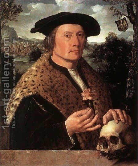 Pompeius Occo by Dirck Jacobsz - Reproduction Oil Painting