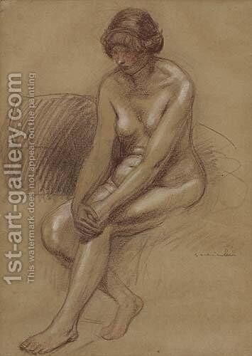 Femme Nue by Theophile Alexandre Steinlen - Reproduction Oil Painting