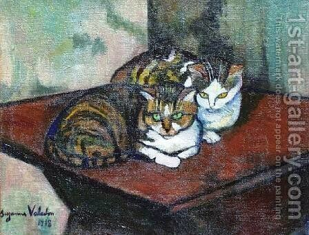 Two cats by Suzanne Valadon - Reproduction Oil Painting
