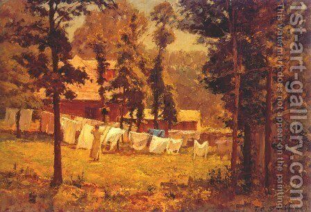 Weekly Wash by Theodore Clement Steele - Reproduction Oil Painting