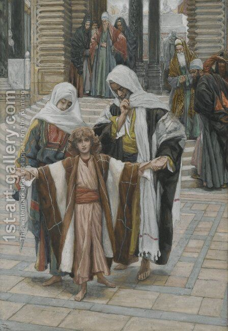 Jesus Found in the Temple by James Jacques Joseph Tissot - Reproduction Oil Painting