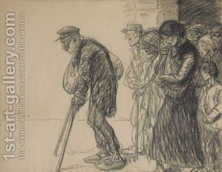 Les Internes Preparatory drawing for by Theophile Alexandre Steinlen - Reproduction Oil Painting