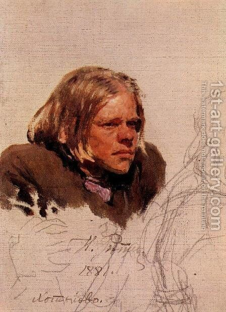 Head of hunchback by Ilya Efimovich Efimovich Repin - Reproduction Oil Painting