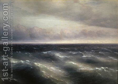 The Black Sea 3 by Ivan Konstantinovich Aivazovsky - Reproduction Oil Painting