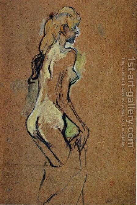 Nude Girl by Toulouse-Lautrec - Reproduction Oil Painting