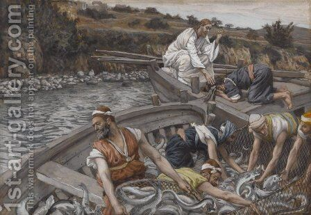 The Miraculous Draught of Fishes (La peche miraculeuse) by James Jacques Joseph Tissot - Reproduction Oil Painting