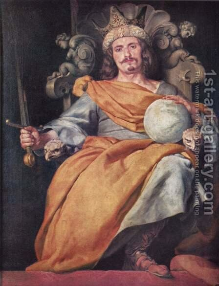 Ideal portrait of a Spanish King by Alonso Cano - Reproduction Oil Painting