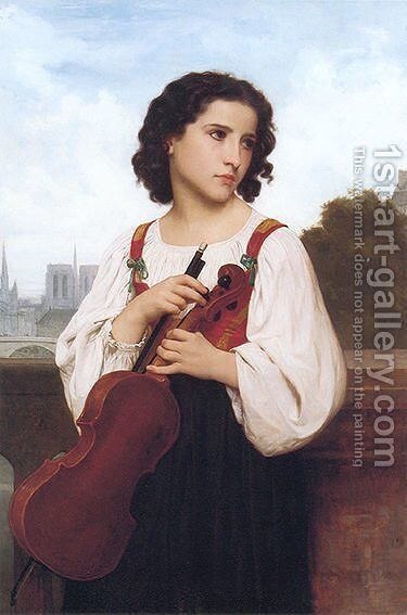 Alone in the world by William-Adolphe Bouguereau - Reproduction Oil Painting