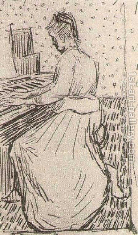 Marguerite Gachet at the Piano 2 by Vincent Van Gogh - Reproduction Oil Painting