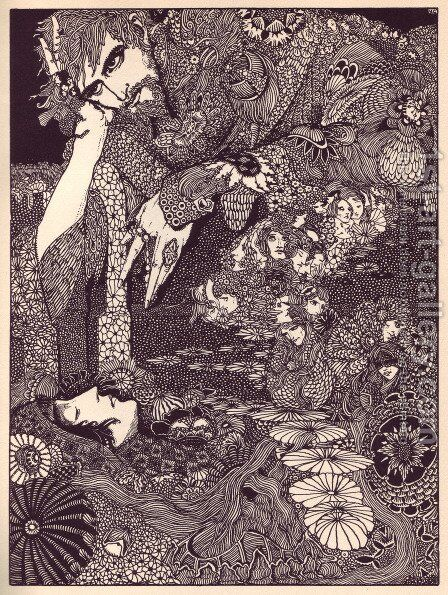 Tales of Mystery and Imagination by Edgar Allan Poe 15 by Harry Clarke - Reproduction Oil Painting