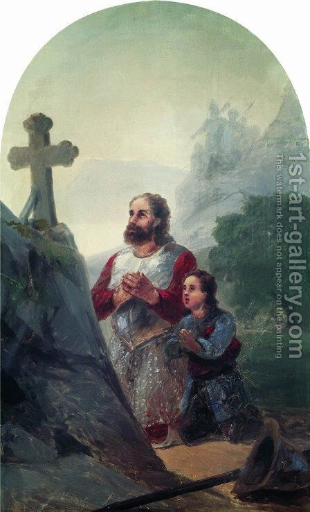 The vow before Avaraisk battle by Ivan Konstantinovich Aivazovsky - Reproduction Oil Painting