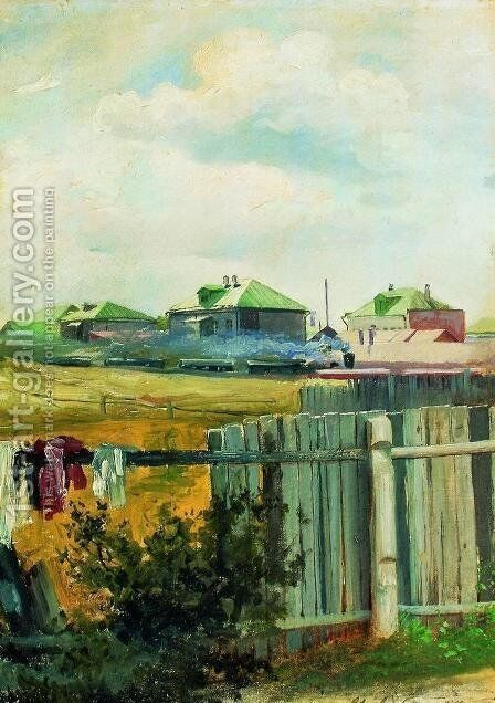 Landscape with fencing by Isaak Ilyich Levitan - Reproduction Oil Painting
