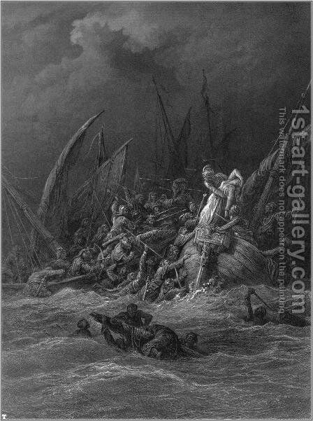 Idylls of the King 11 by Gustave Dore - Reproduction Oil Painting