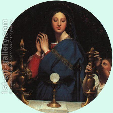 The Virgin of the Host by Jean Auguste Dominique Ingres - Reproduction Oil Painting