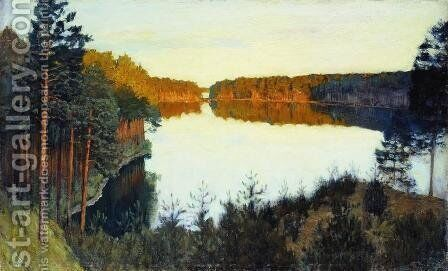 Forest lake by Isaak Ilyich Levitan - Reproduction Oil Painting