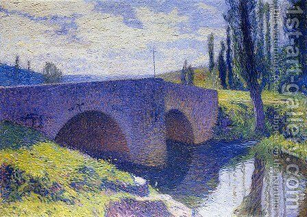 Bridge of Saint Medard at Midday by Henri Martin - Reproduction Oil Painting