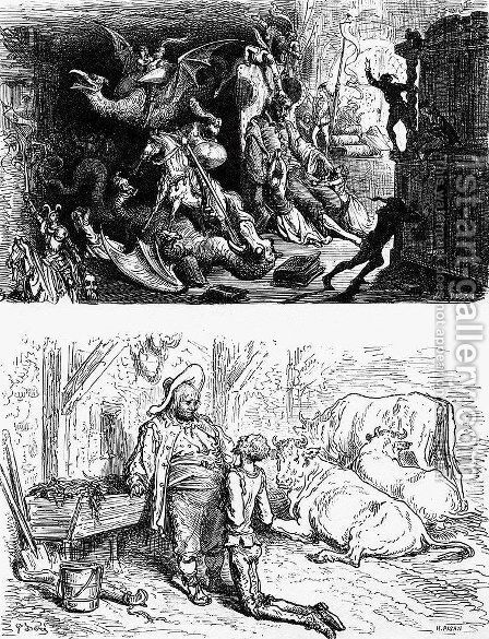 Don Quixote 61 by Gustave Dore - Reproduction Oil Painting