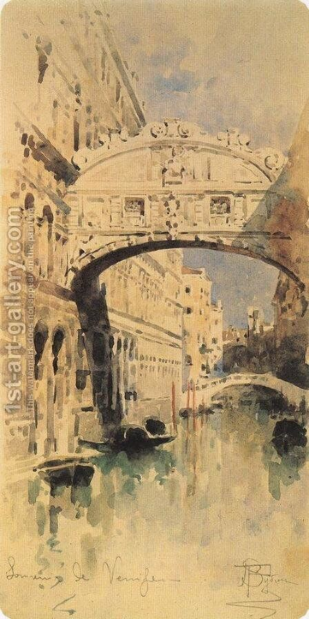 Venice. Bridge of Sighs by Mikhail Aleksandrovich Vrubel - Reproduction Oil Painting