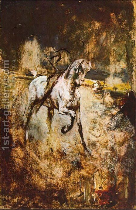 White Horse by Giovanni Boldini - Reproduction Oil Painting