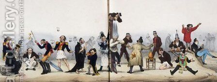 Father Saw by Honoré Daumier - Reproduction Oil Painting