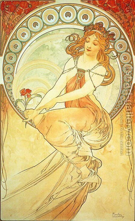 Painting by Alphonse Maria Mucha - Reproduction Oil Painting