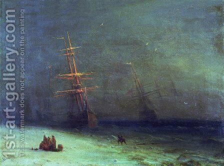 The Shipwreck on Northern sea by Ivan Konstantinovich Aivazovsky - Reproduction Oil Painting