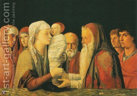 Presentation at the Temple by Andrea Mantegna - Reproduction Oil Painting
