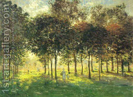 The Promenade at Argenteuil, Soleil Couchant by Claude Oscar Monet - Reproduction Oil Painting