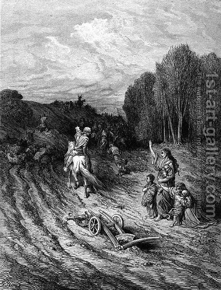 The War Cry of the Crusaders by Gustave Dore - Reproduction Oil Painting