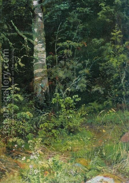 Birch and mountain ash by Ivan Shishkin - Reproduction Oil Painting