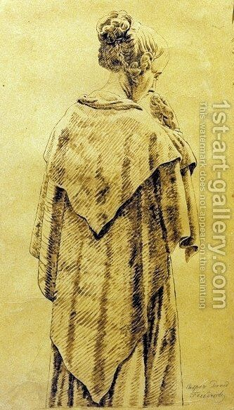 Woman in the cloack by Caspar David Friedrich - Reproduction Oil Painting