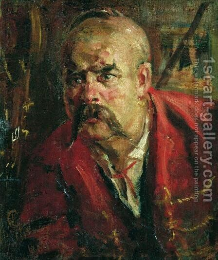 Zaporozhets by Ilya Efimovich Efimovich Repin - Reproduction Oil Painting