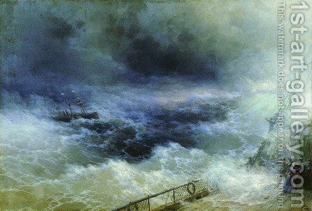 Ocean by Ivan Konstantinovich Aivazovsky - Reproduction Oil Painting