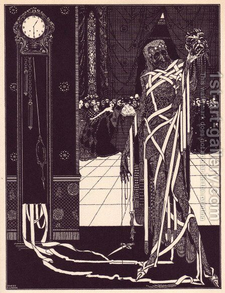 Tales of Mystery and Imagination by Edgar Allan Poe 16 by Harry Clarke - Reproduction Oil Painting