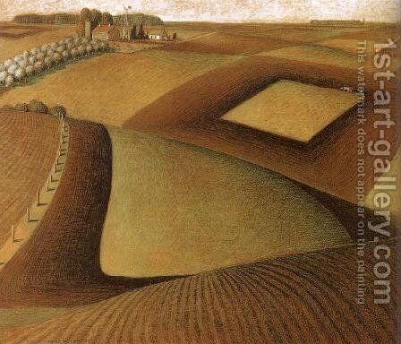 Break ground by Grant Wood - Reproduction Oil Painting