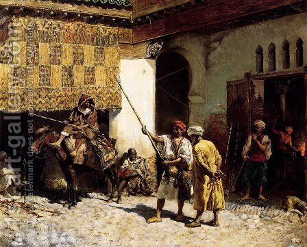 The Arms Merchant by Edwin Lord Weeks - Reproduction Oil Painting