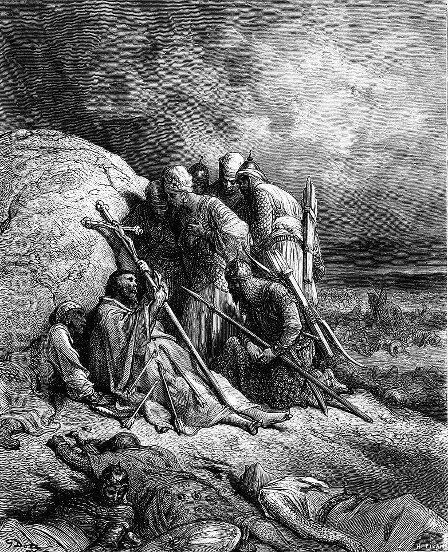 Gaining Converts by Gustave Dore - Reproduction Oil Painting