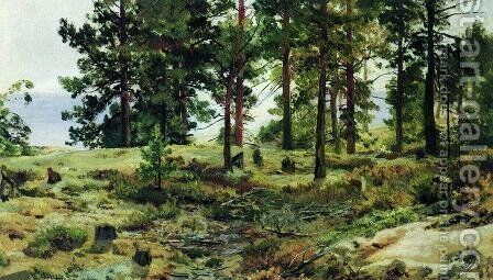On sandy soil. Mary-Howie on Finnish Railways by Ivan Shishkin - Reproduction Oil Painting
