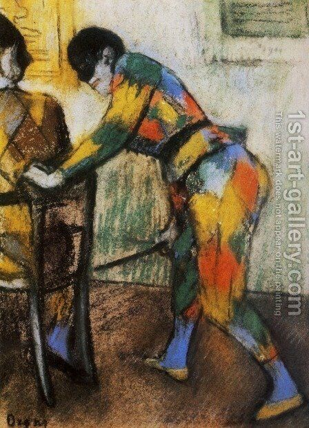 Two harlequins by Edgar Degas - Reproduction Oil Painting