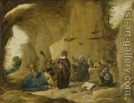 The Temptation of St. Anthony 7 by David The Younger Teniers - Reproduction Oil Painting