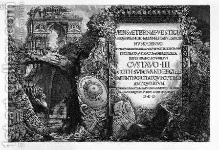 The Roman antiquities, t. 1, Plate I. by Giovanni Battista Piranesi - Reproduction Oil Painting