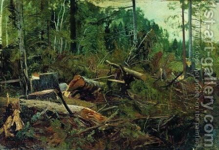 Felling by Ivan Shishkin - Reproduction Oil Painting