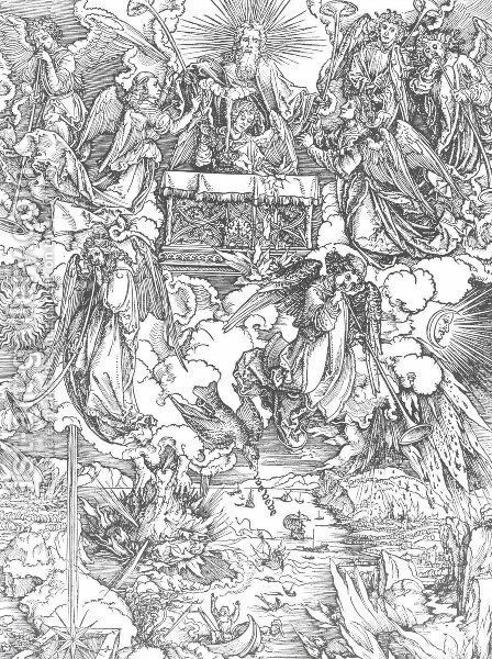The Seven Trumpets Are Given to the Angels by Albrecht Durer - Reproduction Oil Painting